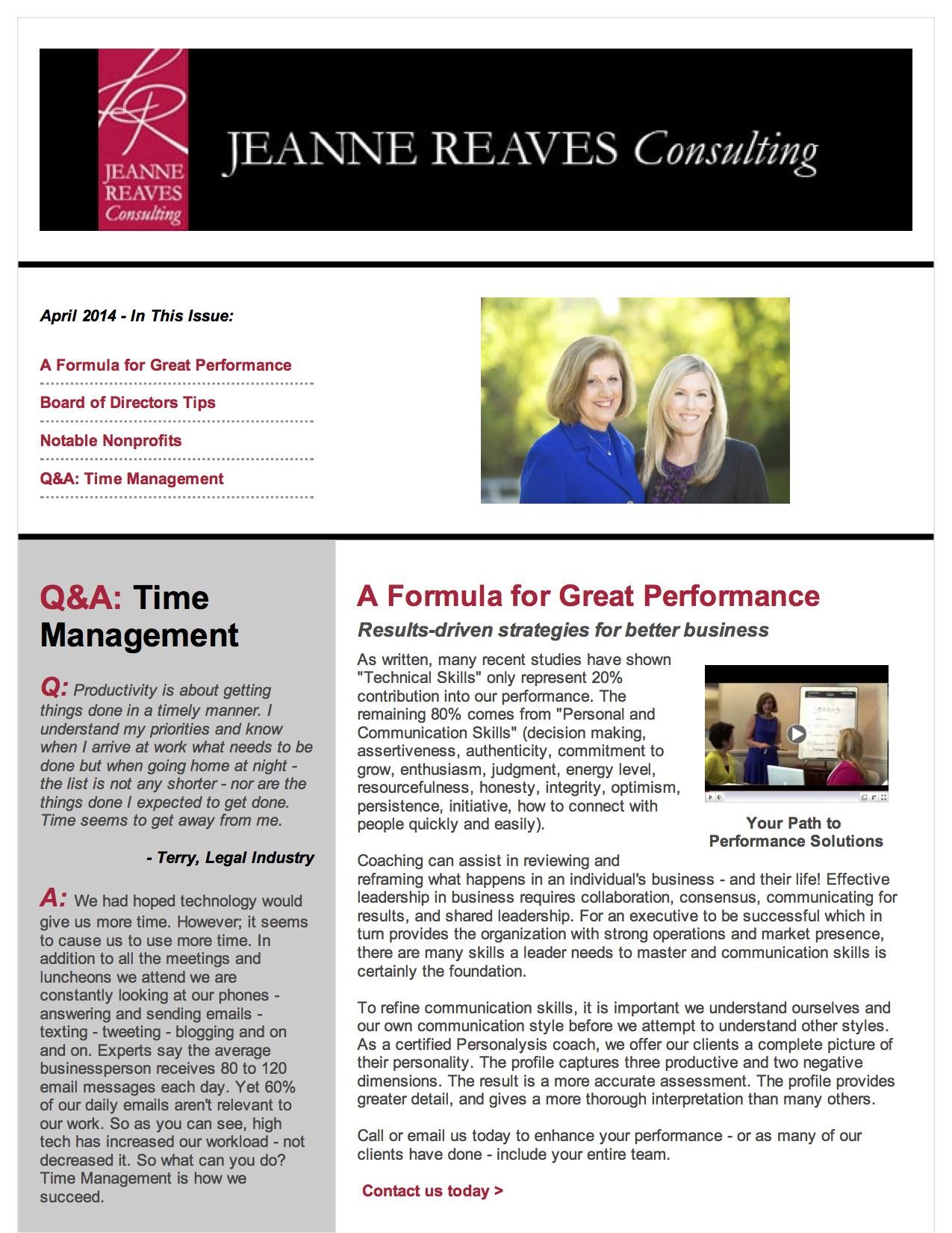 Jeanne Reaves April Newsletter PDF